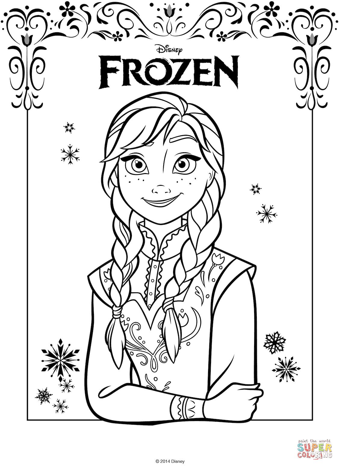 Disegni Da Colorare On Line Frozen • Colorare.best