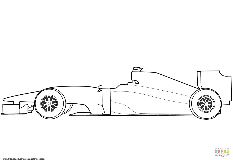 Lege Formule 1 Race Auto Kleurplaat