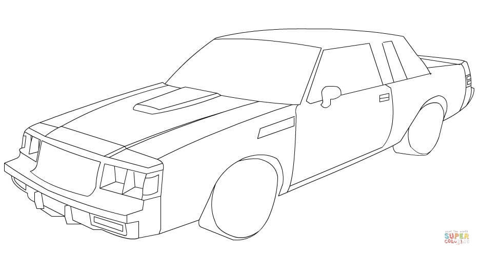 1974 Dodge Charger Coloring Page Sketch Coloring Page