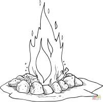 Campfire coloring page   Free Printable Coloring Pages