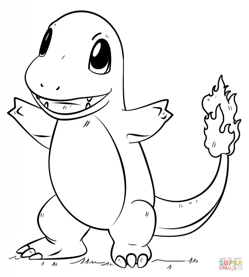 Charmander Pokemon Coloring Page Free Printable Coloring