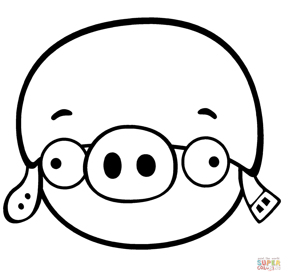 Corporal Pig Coloring Page Free Printable Coloring Pages