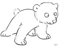 Dibujo de Bonito Beb de Oso Polar para colorear | Dibujos ...