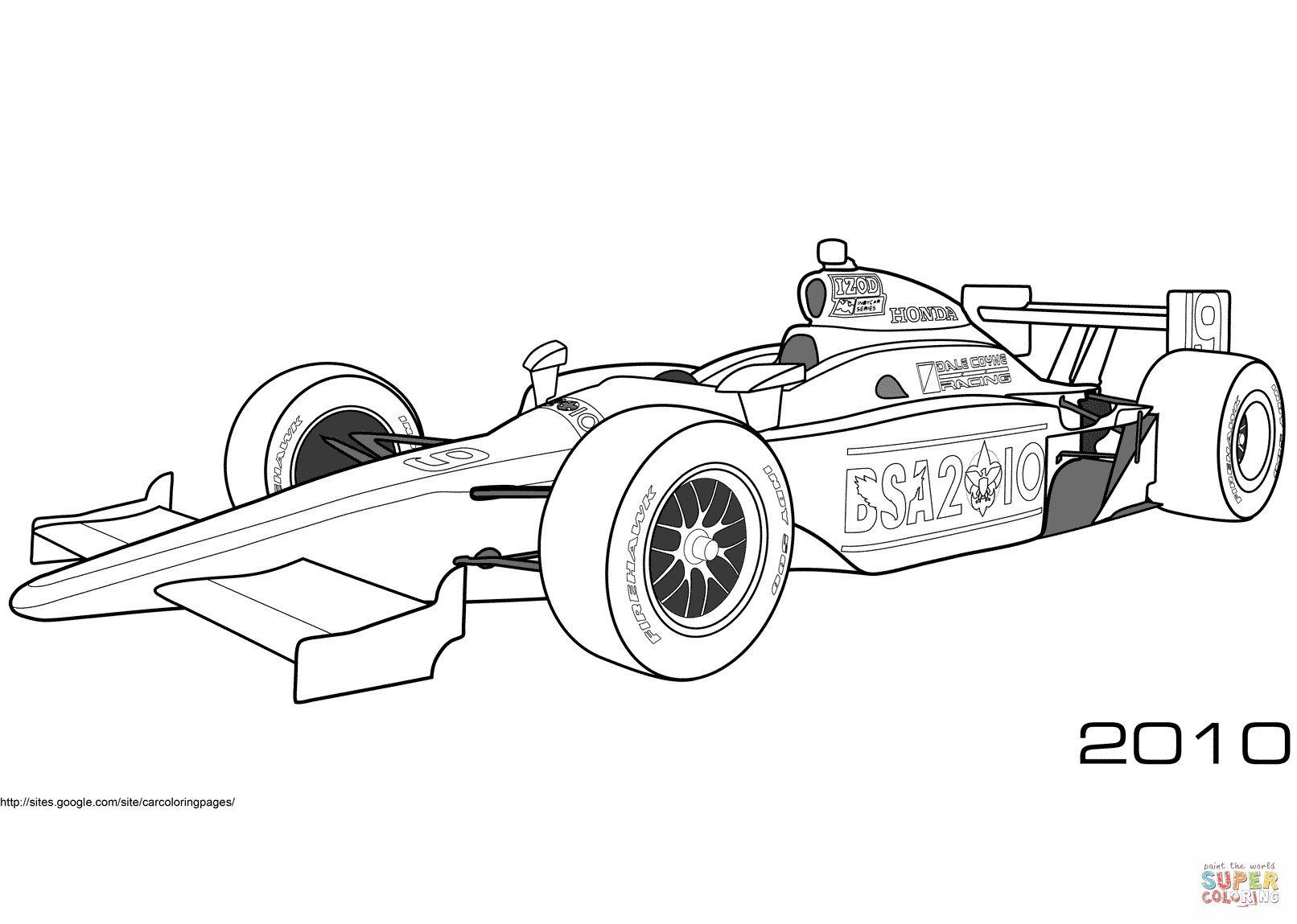 Dale Coyne Racing Bsa Indy Car Coloring Page