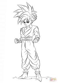 Dragon ball Z dibujos para colorear GOHAN - Imagui