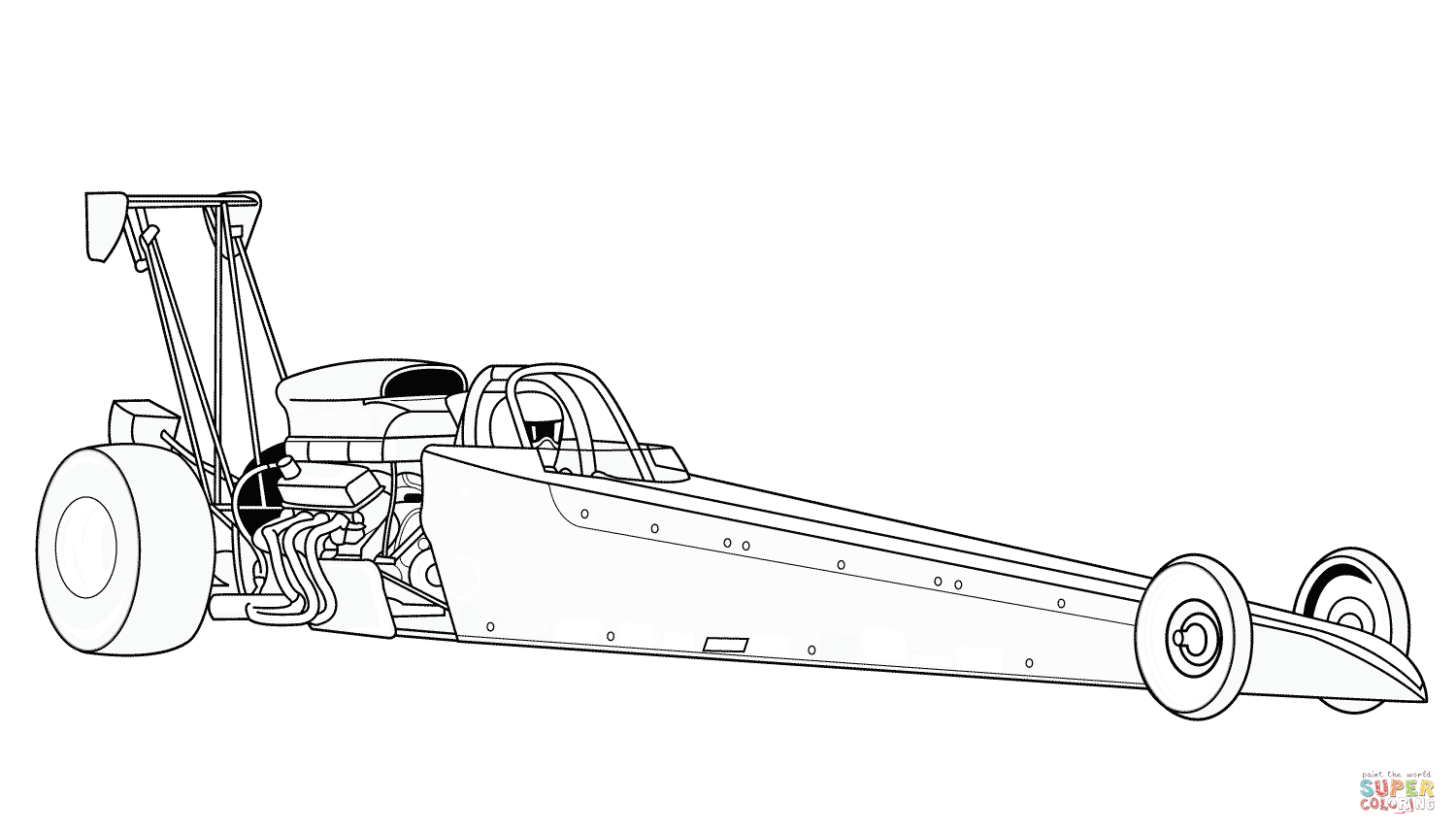 Dragster Coloring Page