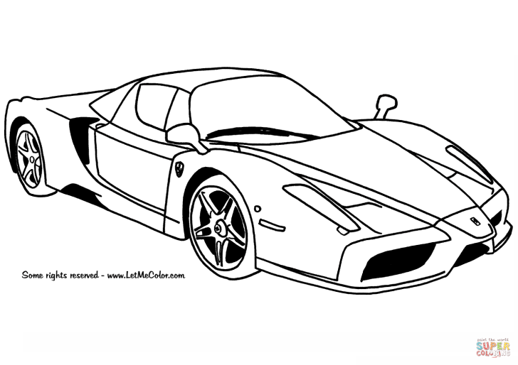 Animals And Flowers: Coloring Pages Printable Cars. Ferrari Enzo Coloring Page Widescreen Printable For Halloween Laptop Hd Pics Car