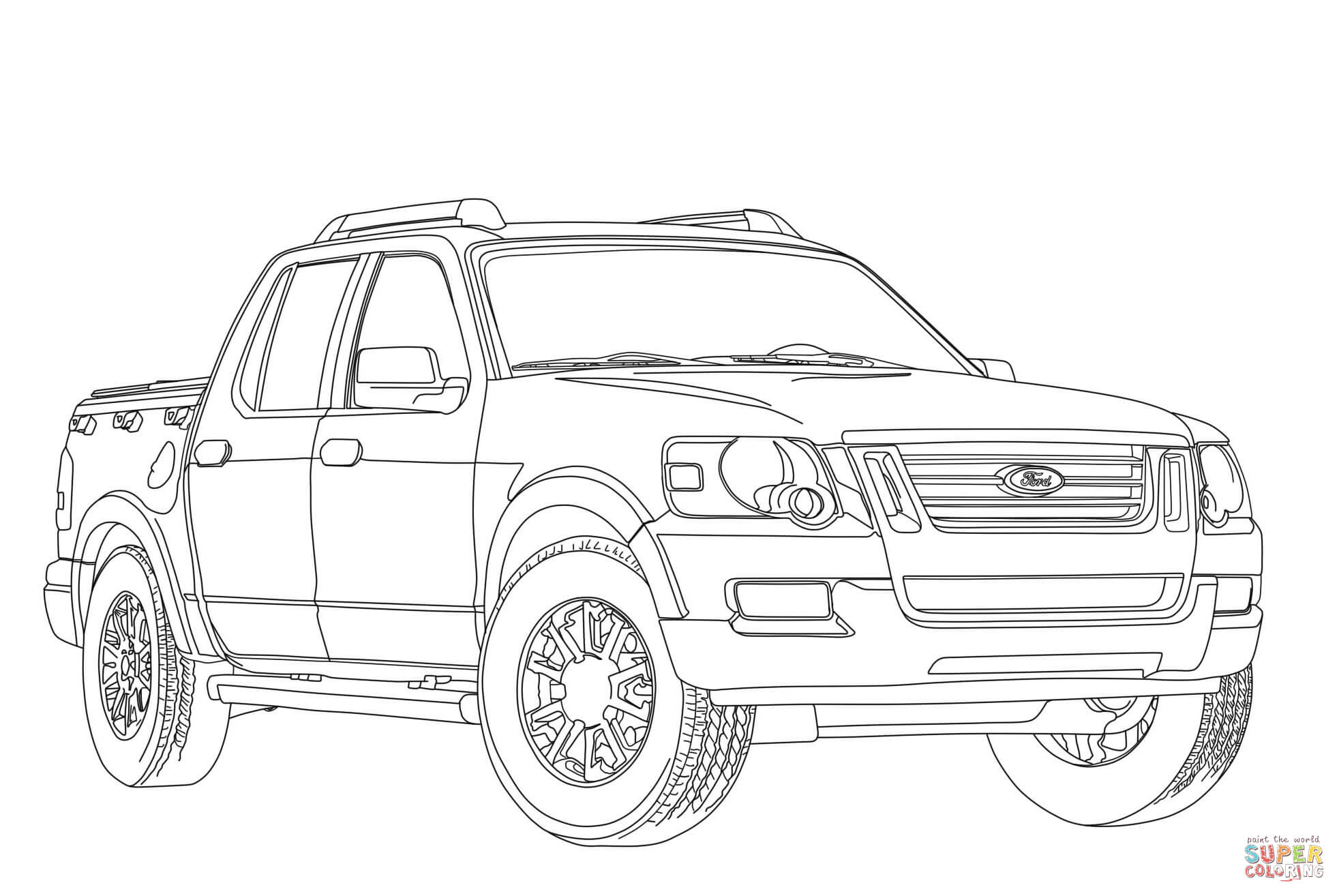 Ford Truck Coloring Pages Sketch Coloring Page