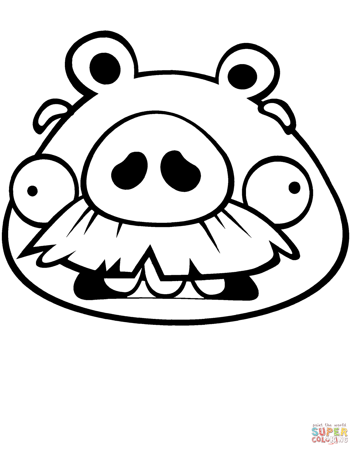 Foreman Pig Coloring Page Free Printable Coloring Pages