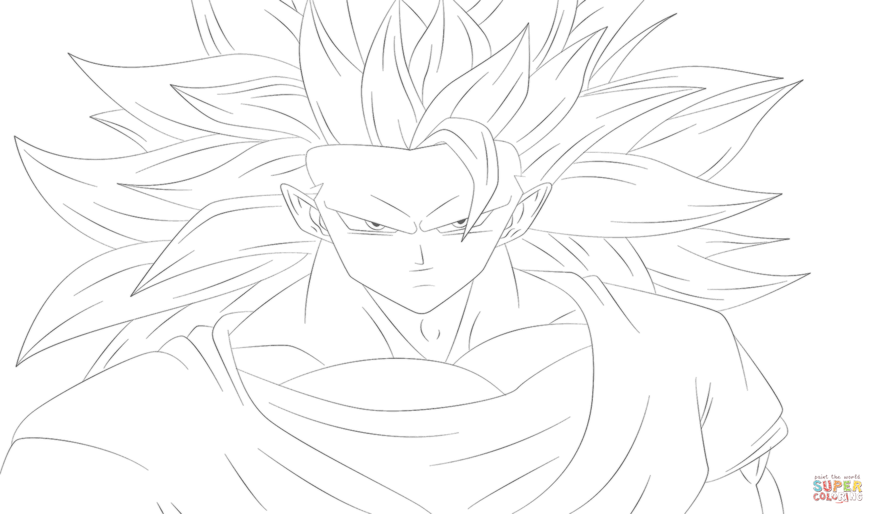 Free Coloring Pages Download Goku From Dragon Ball Z Page Printable