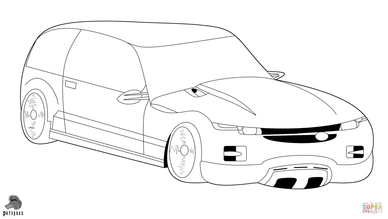 Honda Civic Hatchback Drawing Sketch Coloring Page