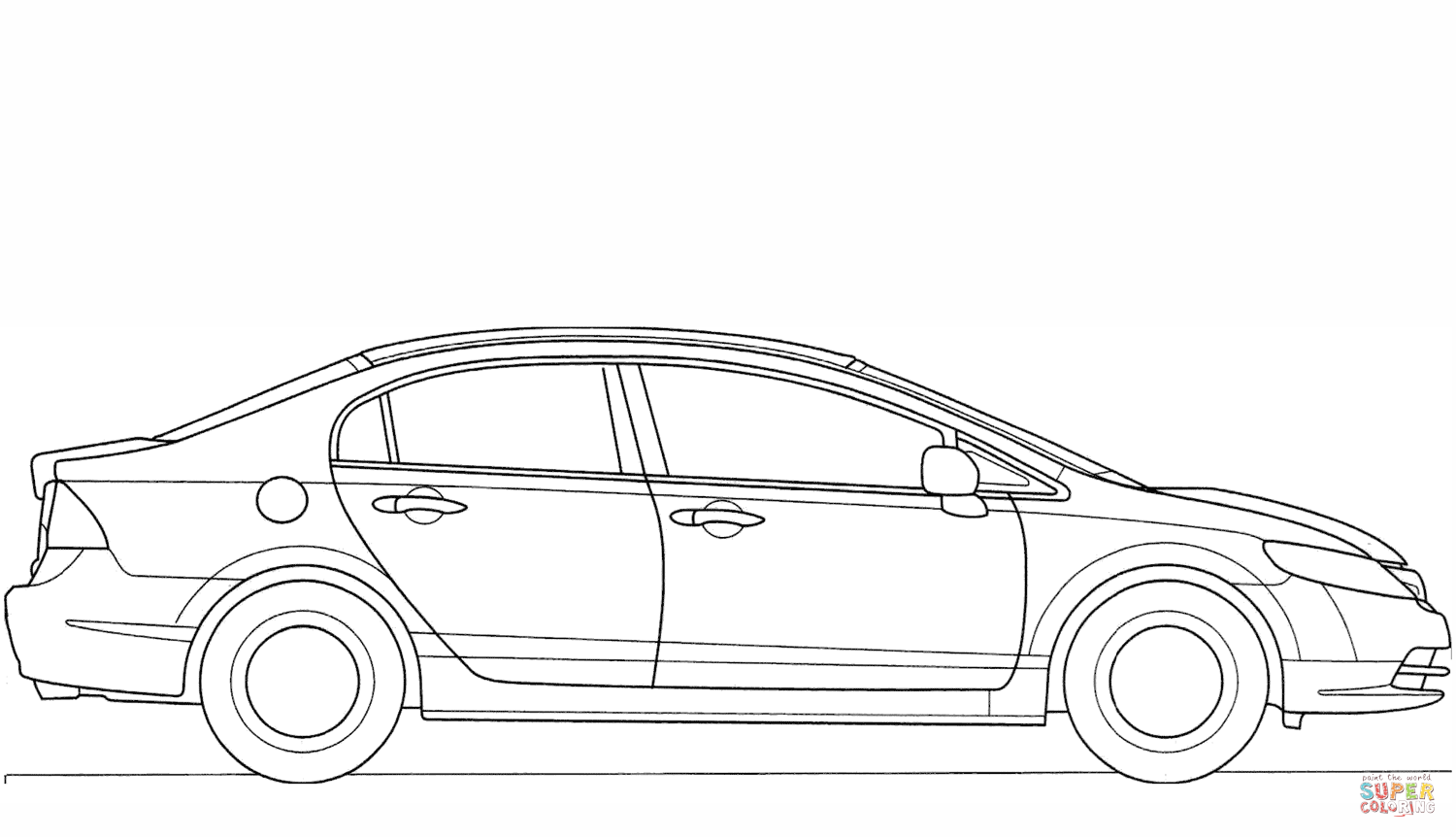 Honda Civic Type R Coloring Page Auto Pinterest Sketch