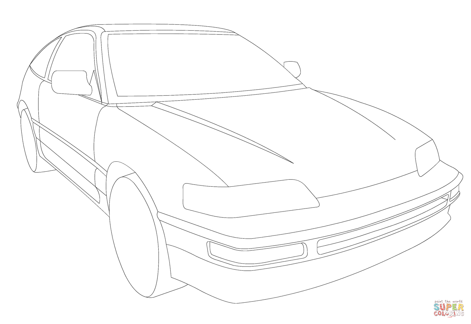 Honda Cr V Coloring Page Coloring Pages
