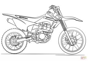 Ausmalbild Honda Motocross Motorrad   Ausmalbilder ...