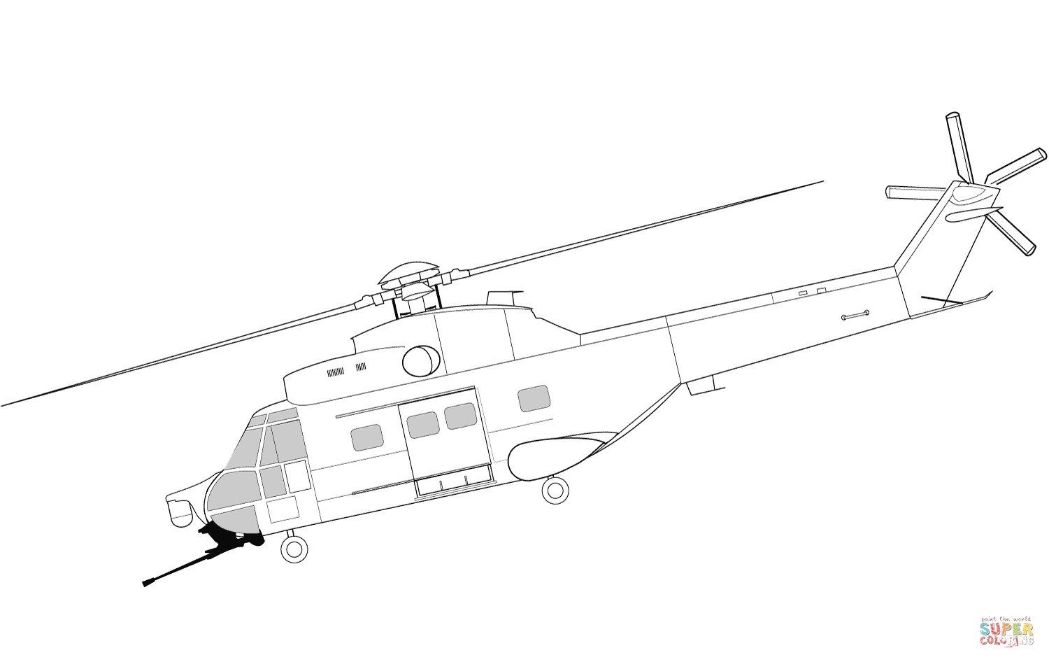 Iar 330 Helicopter Coloring Page