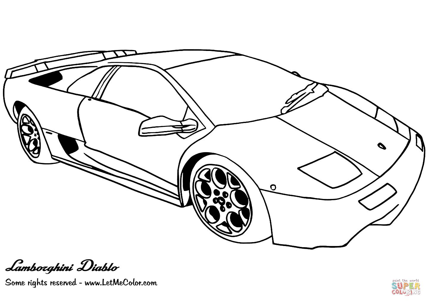 Clicker Sur La Lamborghini Diablo Coloriages Pour Visualiser La Version Imprimable Ou Colorier En Ligne Compatible Avec Les Tablettes Ipad Et Android