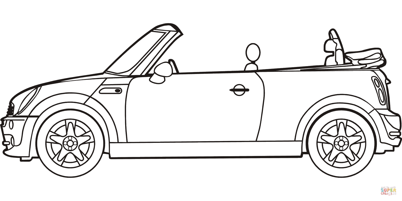 Cabrio Kleurplaat • Kidkleurplaat.nl