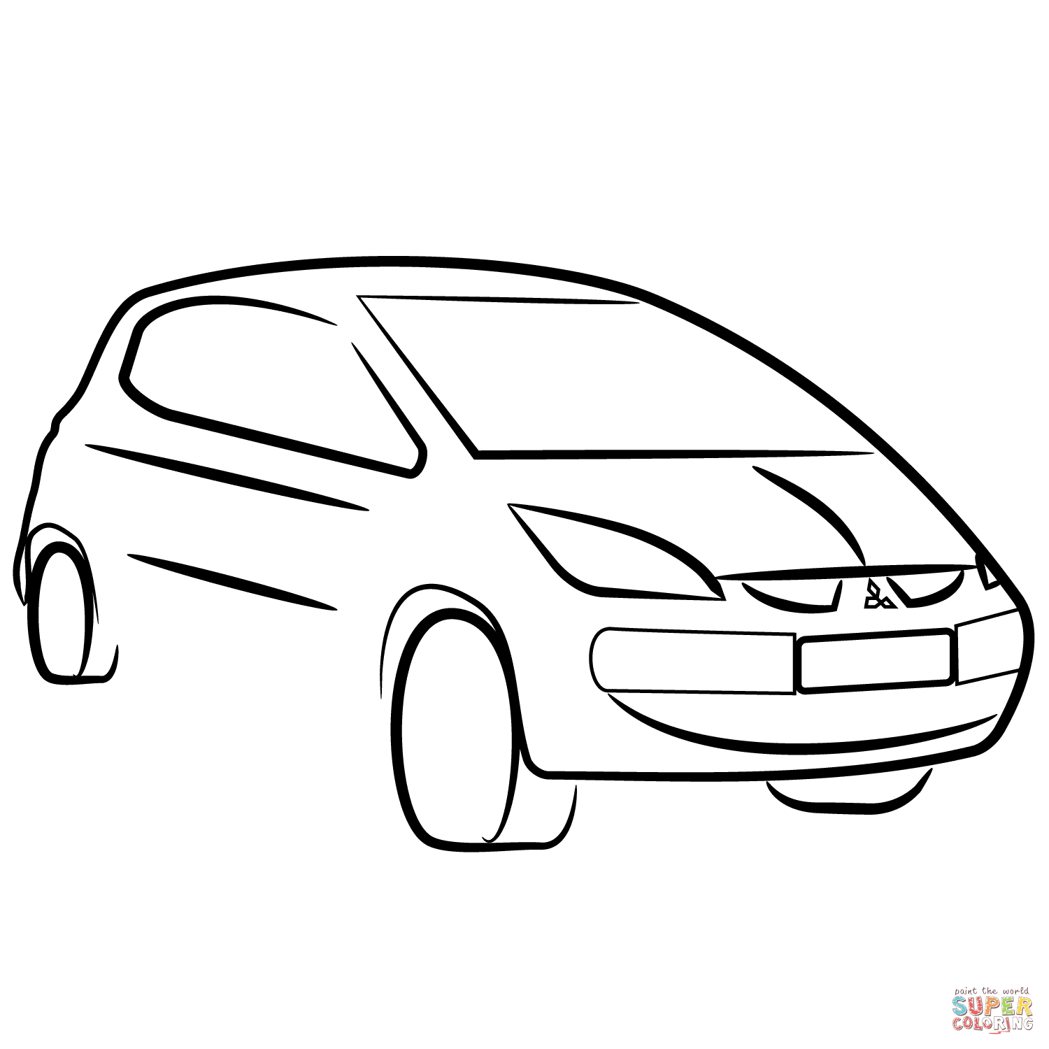 Mitsubishi Lancer Coloring Pages Coloring Pages