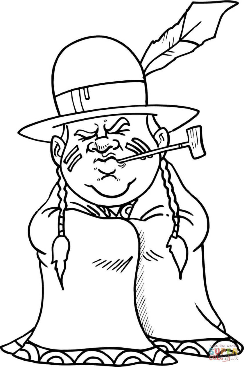 native american coloring page  free printable coloring pages