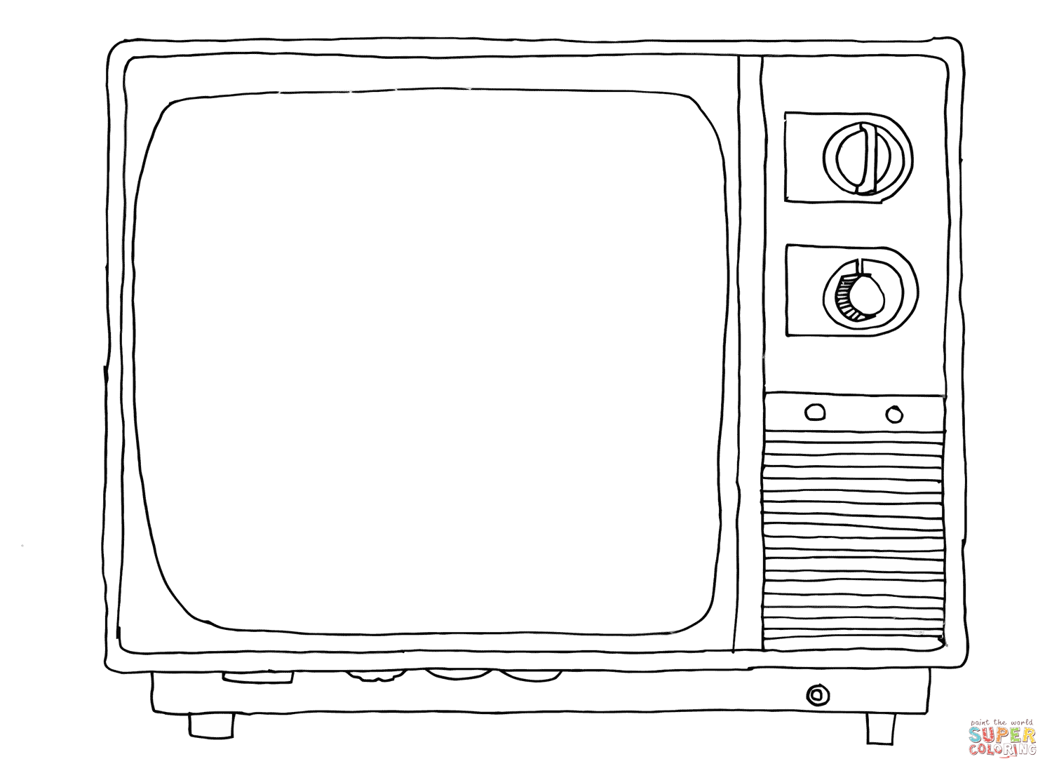 Old Sytle Tv Coloring Page