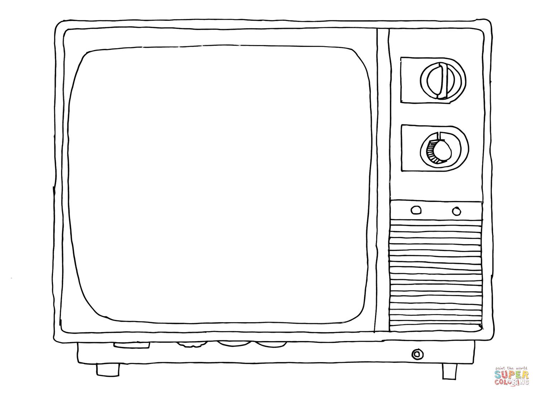 Ausmalbild Alter Fernseher Ausmalbilder kostenlos zum