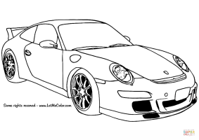 Porsche 911 GT3 coloring page   Free Printable Coloring Pages