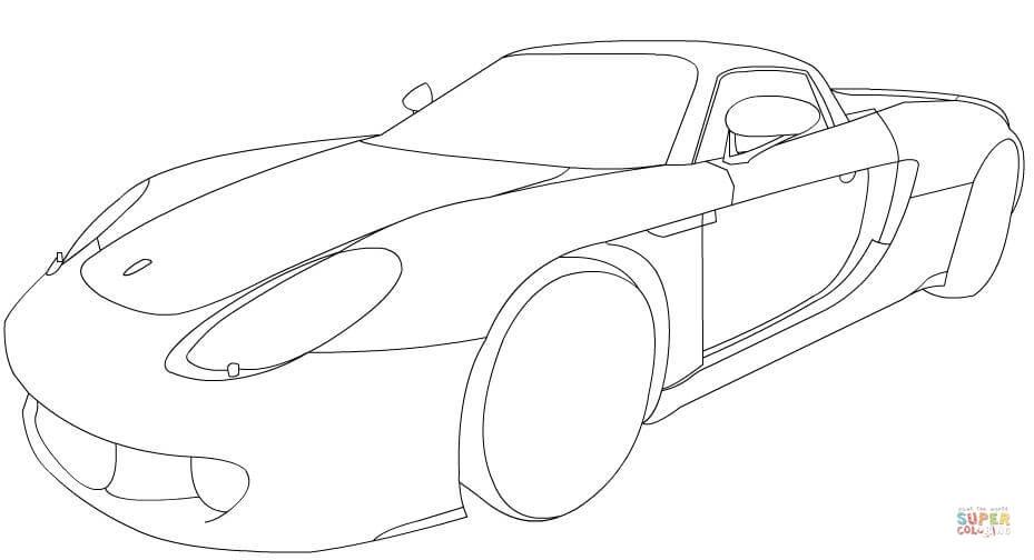 Ausmalbilder Porsche 911