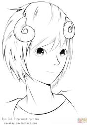 ryo anime boy zavekey coloring