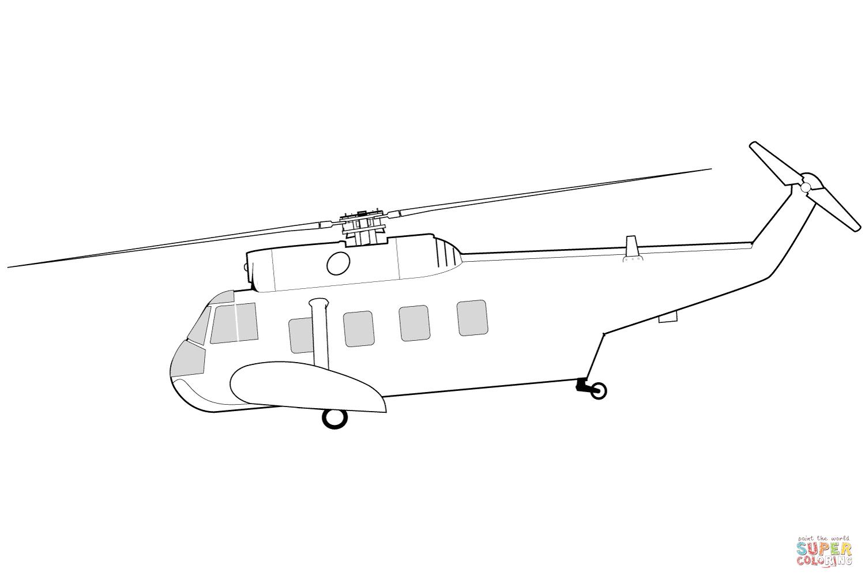 Ausmalbild: Sikorsky HH-52 Seaguard Hubschrauber