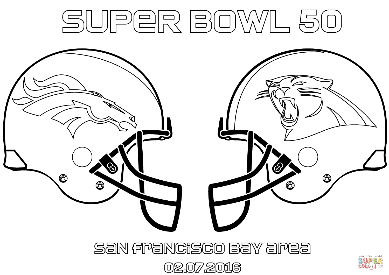 Super Bowl Football Coloring Pages