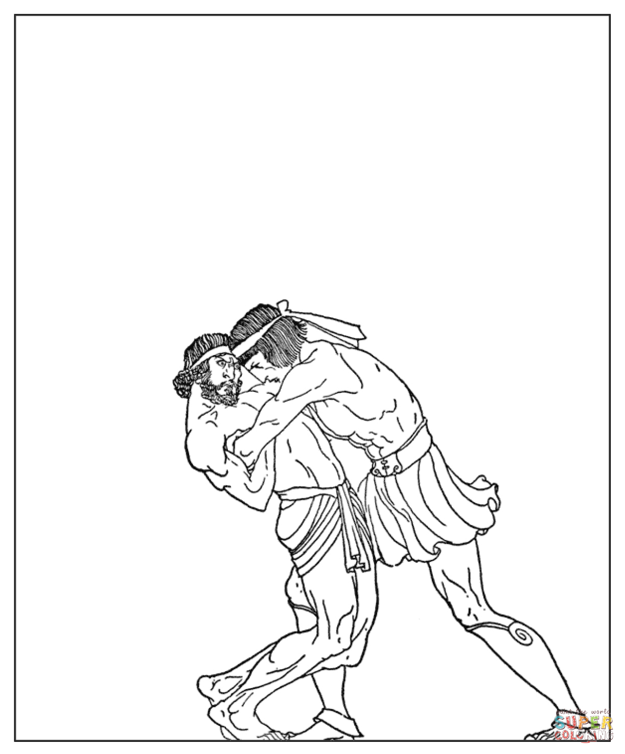 The Bout Between Theseus and the Lordly coloring page