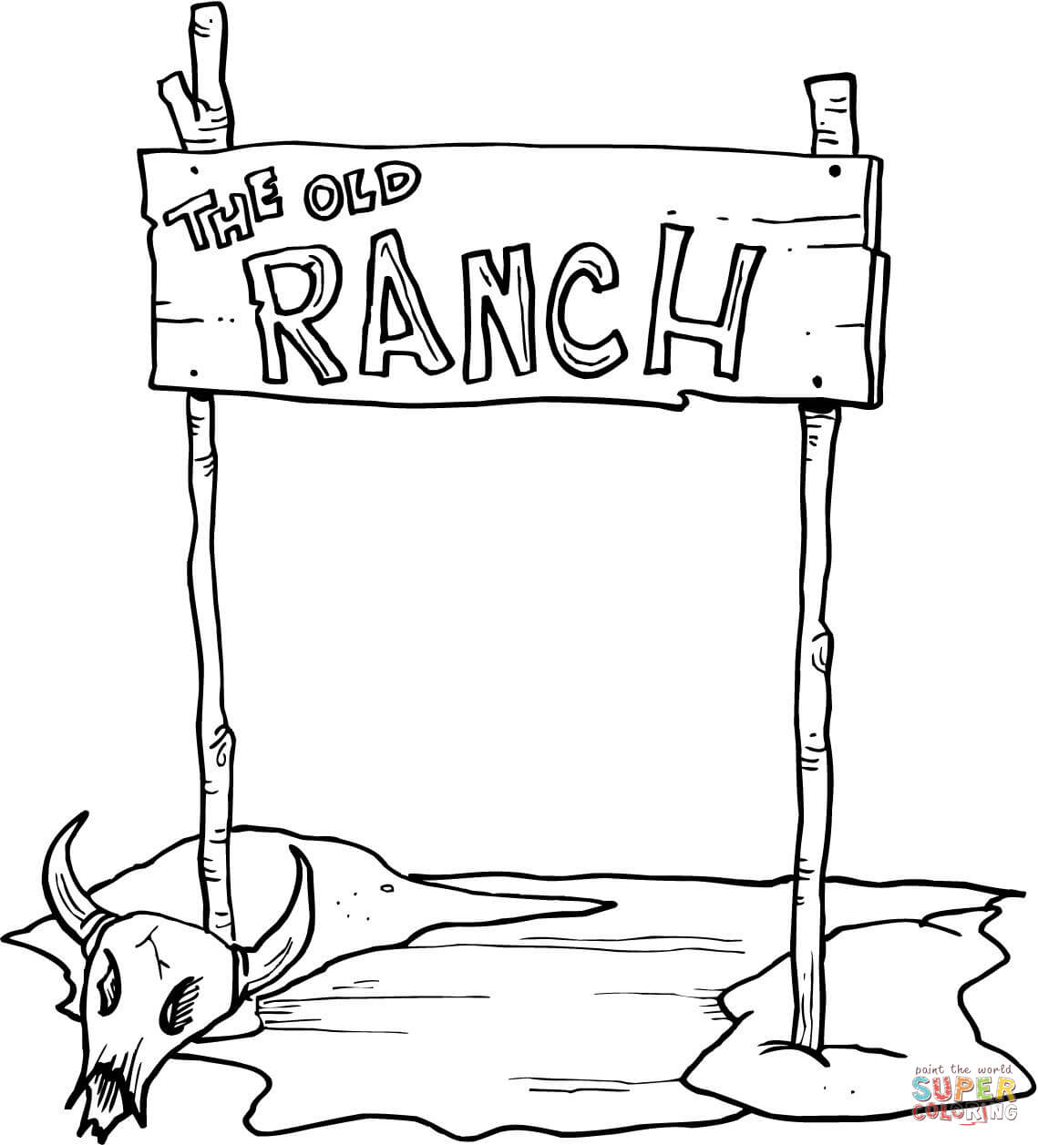 Fr Coloriages The Old Ranch