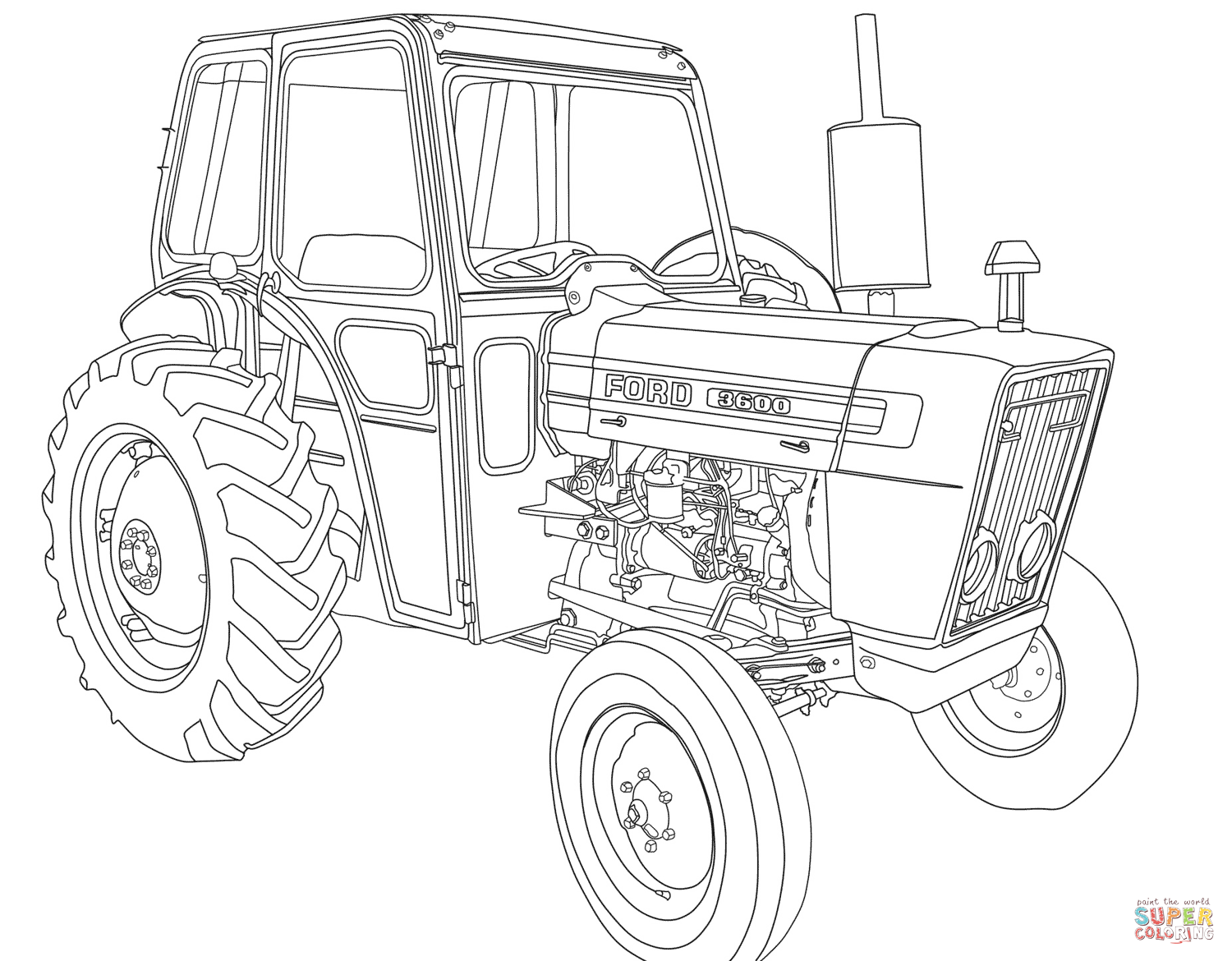 Tractor Ford Coloring Page
