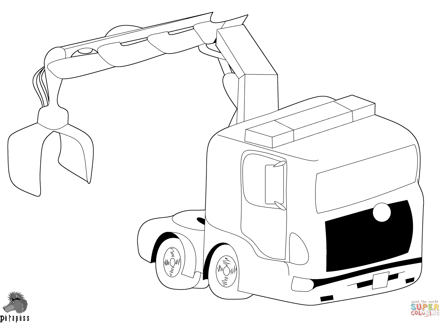 hight resolution of truck with crane