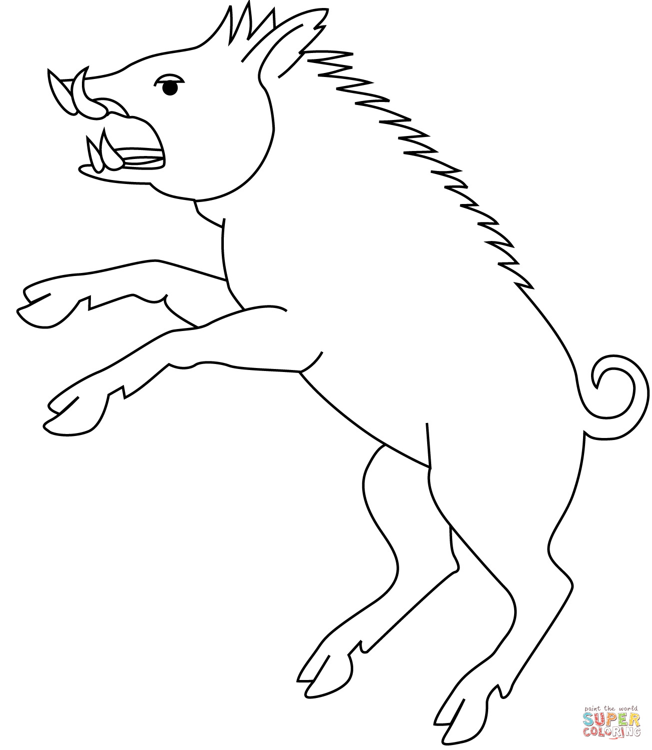 Wild Pig Coloring Pages Sketch Coloring Page