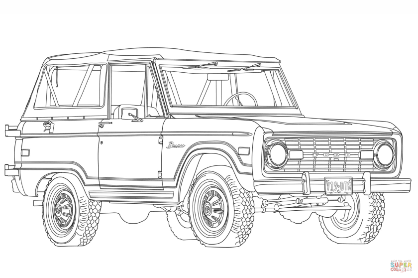 1966 ford bronco coloring page  free printable coloring pages