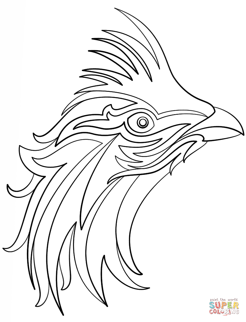 Abstract Bird Coloring Page Free Printable Coloring Pages