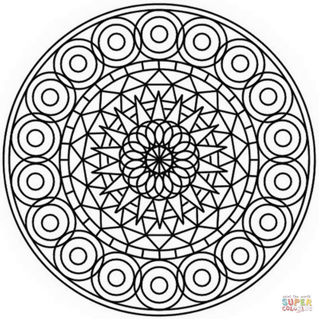 Abstract Mandala Coloring Page