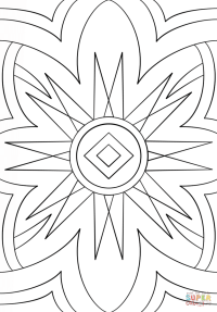 Abstract Pattern coloring page | Free Printable Coloring Pages