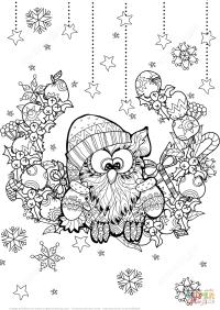Ausmalbilder Tiere Weihnachten Christmas Animals 3 Coloring Page