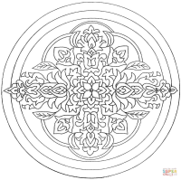 Malvorlagen Blumen Ornamente Ausmalbild Zentangel