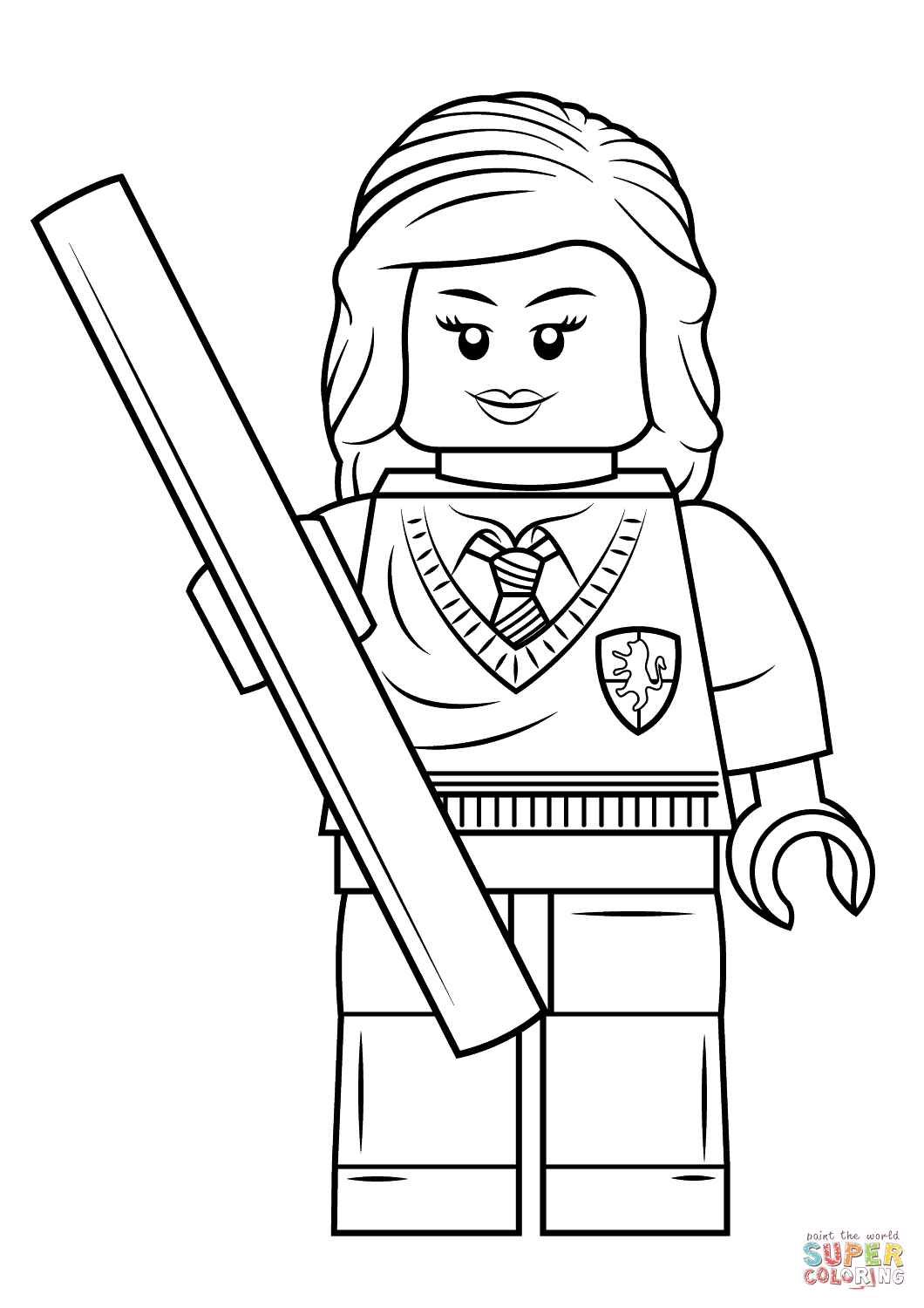 Lego Hermione Granger Coloring Page