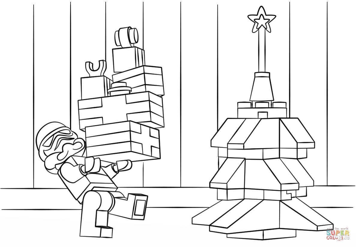 Lego Star Wars Clone Christmas Coloring Page