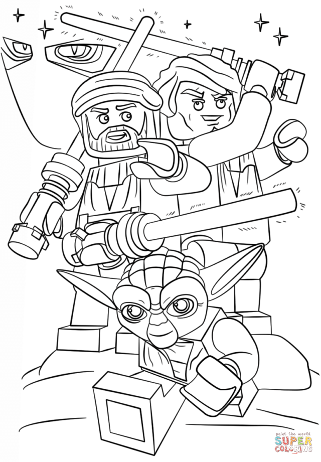 Lego Star Wars Clone Wars coloring page  Free Printable Coloring