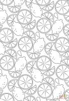 Ausmalbild Zitronen Muster   Ausmalbilder kostenlos zum ...