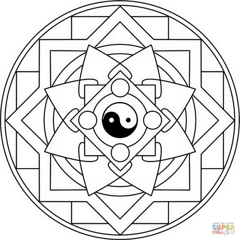 Yin Yang Coloring Page Free Printable Coloring Pages