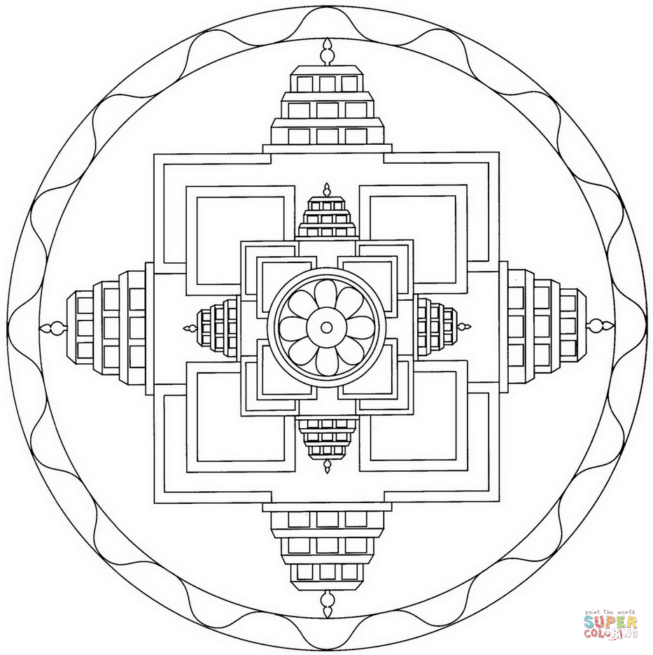 Yin Yang Mandala Coloring Page Free Printable Coloring Pages