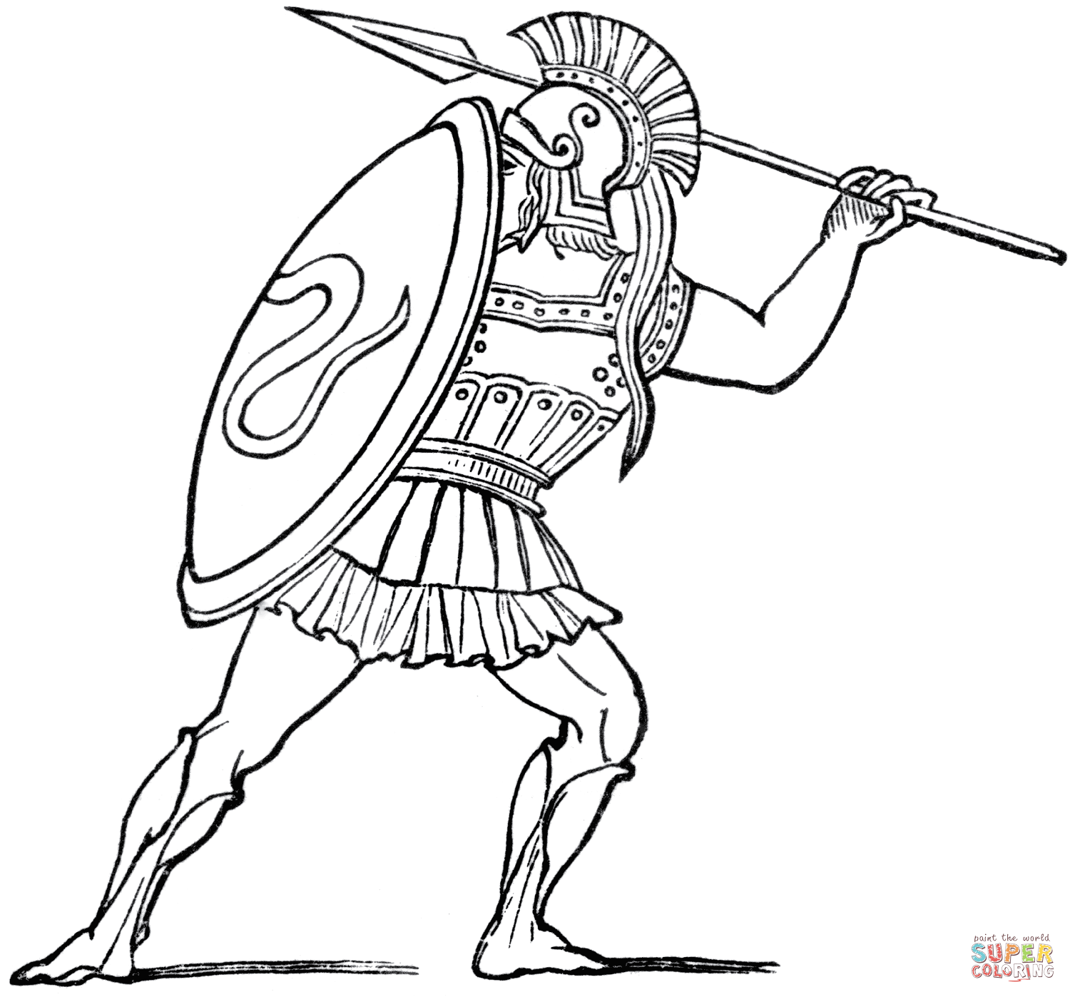 Greece Coloring Pages Free