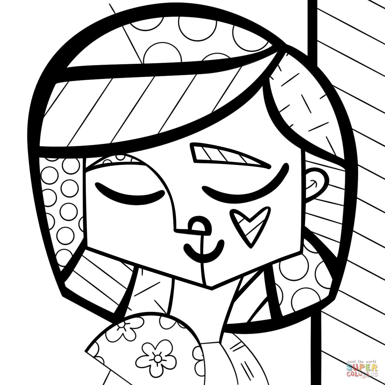 Queen Elizabeth By Romero Britto Coloring Page Free Printable