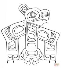 Haida Art - Raven coloring page | Free Printable Coloring ...